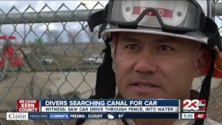Search continues for truck believed to have driven into canal.