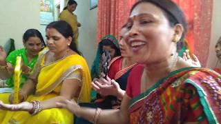 माता रानी भजन :पहन के चोला लाल मैया जी मेरे घर आना  || नवरात्रि स्पेशल #2 with lyrics& dans