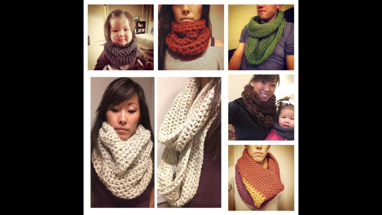 A Very In Depth How To Crochet A Chunky Infinity Scarf Andor Cowl