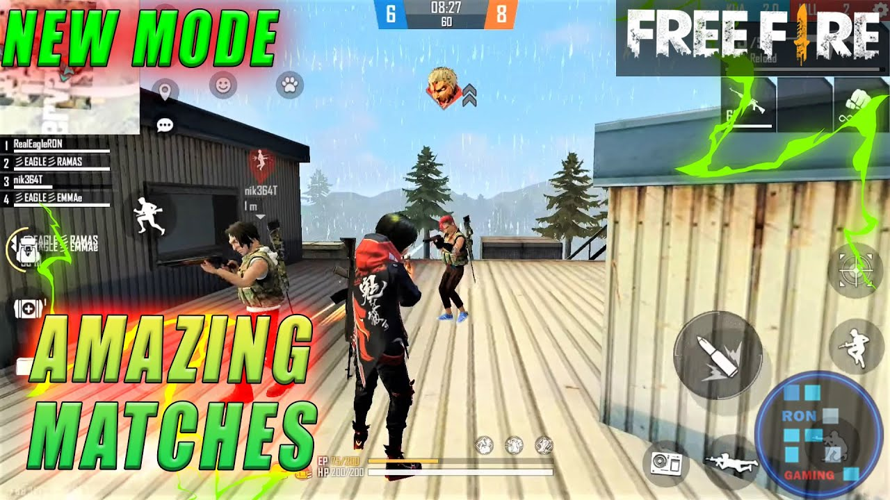 Free-Fire | Amazing Game Play Of Titan Attacks : New TDM Mode