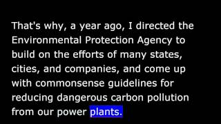 President Obama May 31st, 2014 -  Weekly Address - Reducing Carbon Pollution in Our Power Plants