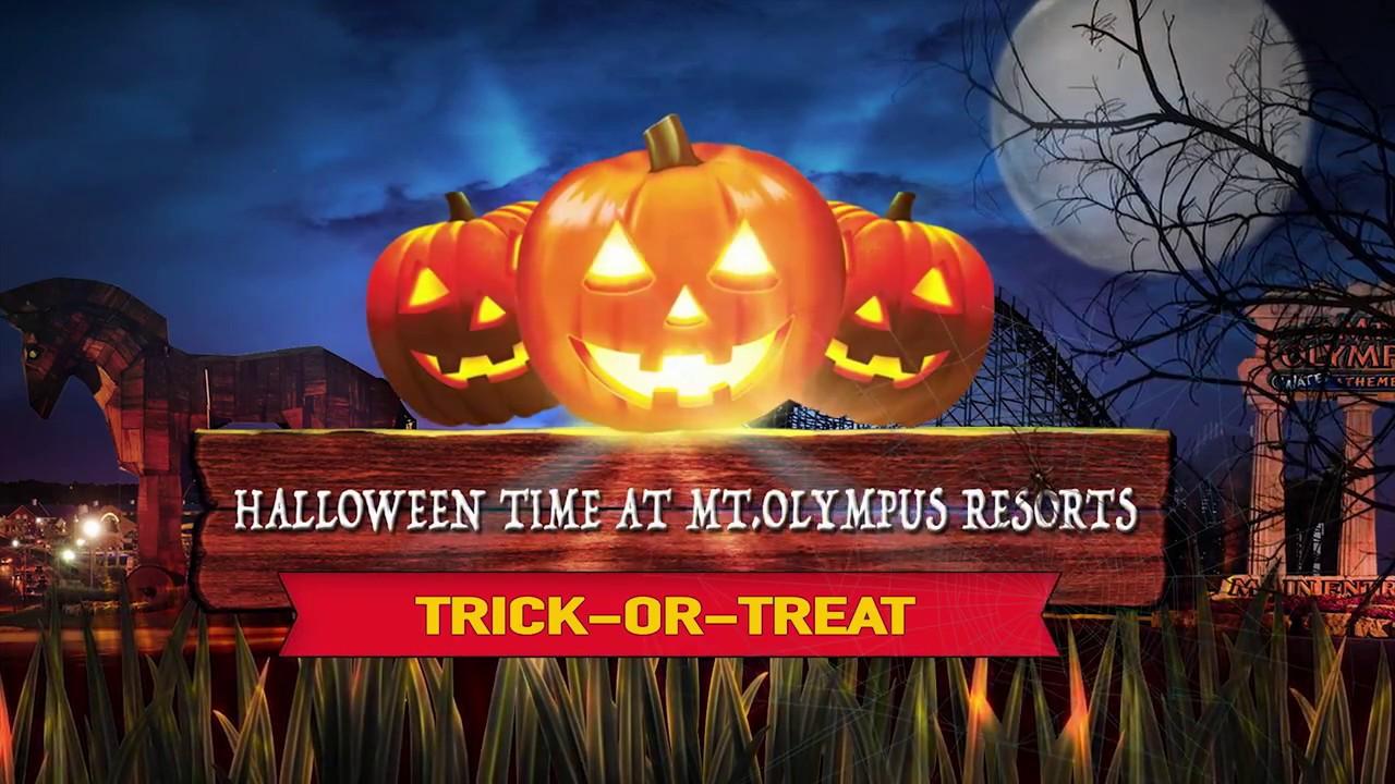 halloween time at mt olympus resort youtube