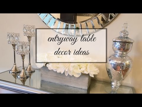 ENTRYWAY TABLE DECOR IDEAS - YouTube