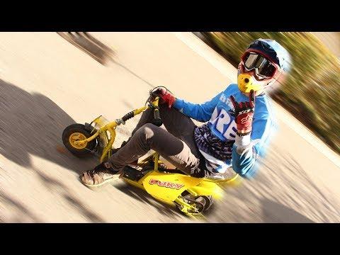 Puky-Roller mit Benzinmotor