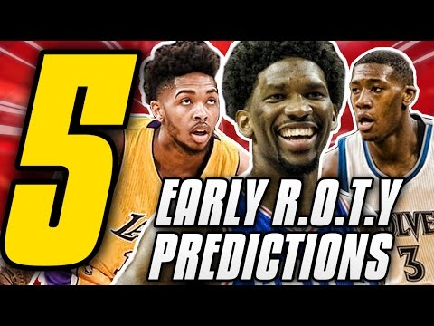 5 Early Favourites For the 2016/2017 NBA Rookie Of The Year Award!!   Way Too Early NBA Predictions