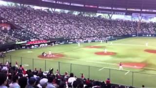 2012年6月17日に西武ドームで行われた埼玉西武対広島の交流戦試合前に行...