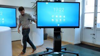 Support mobile autonome (sur batterie) pour écran interactif