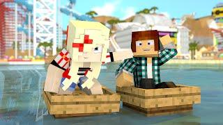 Minecraft : CORRIDA DE BARCOS !! - (Parque de Diversões #01)