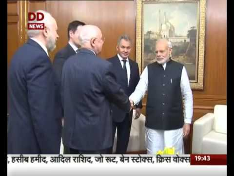 PM Narendra Modi met Sergei Shoigu, Minister of Defence of the Russian Federation