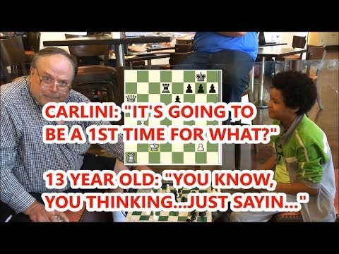 13 Year Old Rated 1950 Trash Talks And Laughs At Carlini!