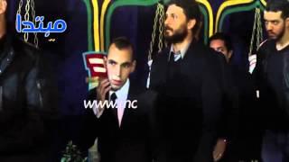 فيديو| تجمهر حول حسام غالى وعمرو زكى فى عزاء الثعلب