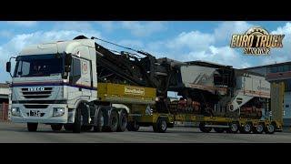 [ETS2] 473 「日通で運べない物は無い!」 日本仕様の Iveco Stralis 8x4 で特大アスファルト切削機を運ぶ | パルマ (ITA) ~ スッザーラ (ITA)