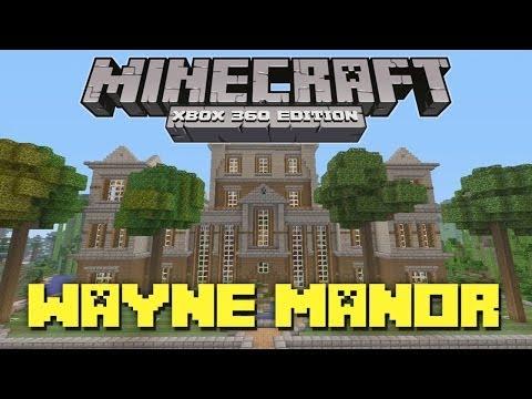 Minecraft Xbox 360: Full-Scale Wayne Manor! (Batman Mansion)