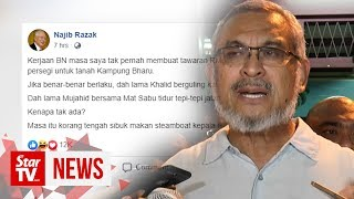 Khalid hits back at Najib on Kampung Baru land deal