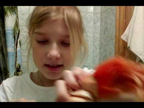 Как акварелью покрасить волосы