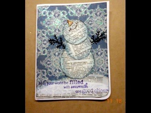 Snowman Christmas Card - Good Cheer