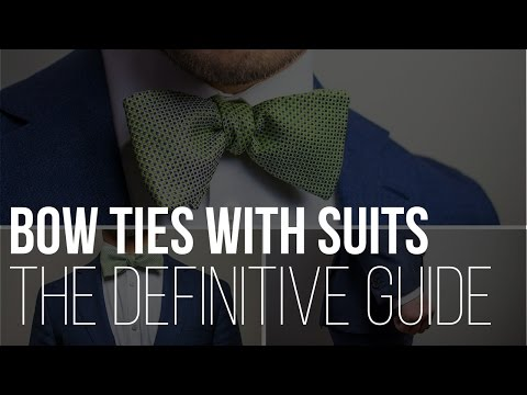 Bow Ties With Suits Video - The Bow Tie Guy