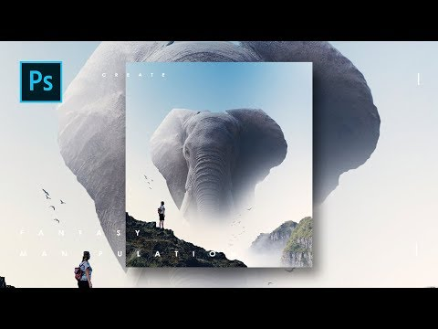 Cara edit Elephant Monsters Manipulation dg photoshop - Photoshop Tutorial Indonesia