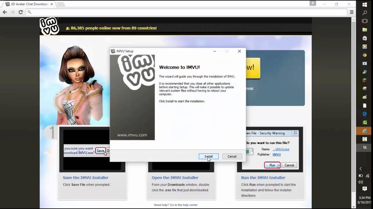 How to download IMVU on Windows 10 without any viruses - YouTube