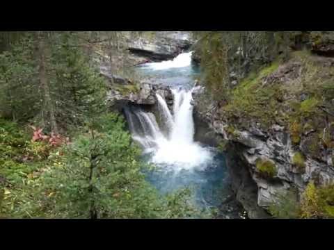 Johnston Canyon Falls and Hike Banff Alberta Canada