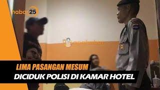 5 Pasangan Mesum Diciduk Polisi Di Kamar Hotel