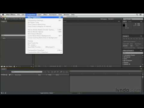 CGI After Effects Tutorials HD: After Effects Create Your First Project