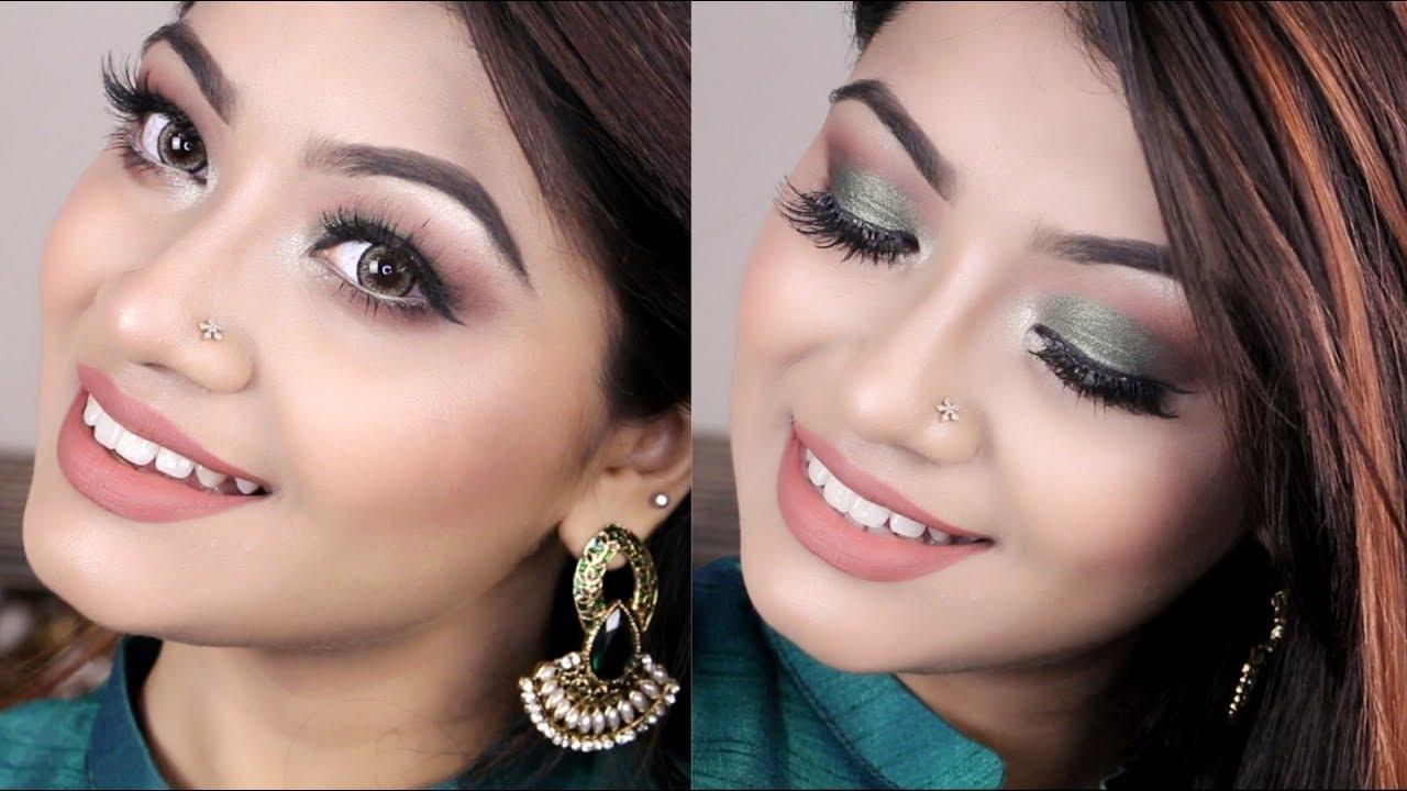 Easy Olive Green Smokey Eye Makeup Tutorial - Smokey Green ...