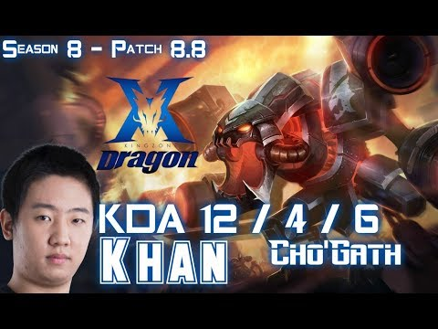 KZ Khan CHO'GATH vs VLADIMIR Top - Patch 8.8 KR Ranked