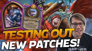 Testing out the NEW AND IMPROVED PATCHES! | Hearthstone Battlegrounds | Savjz