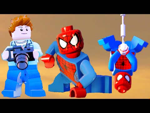 LEGO Marvel Avengers Spider-Man Peter Parker All Ability Showcase & Free Roam Gameplay (DLC) - 동영상