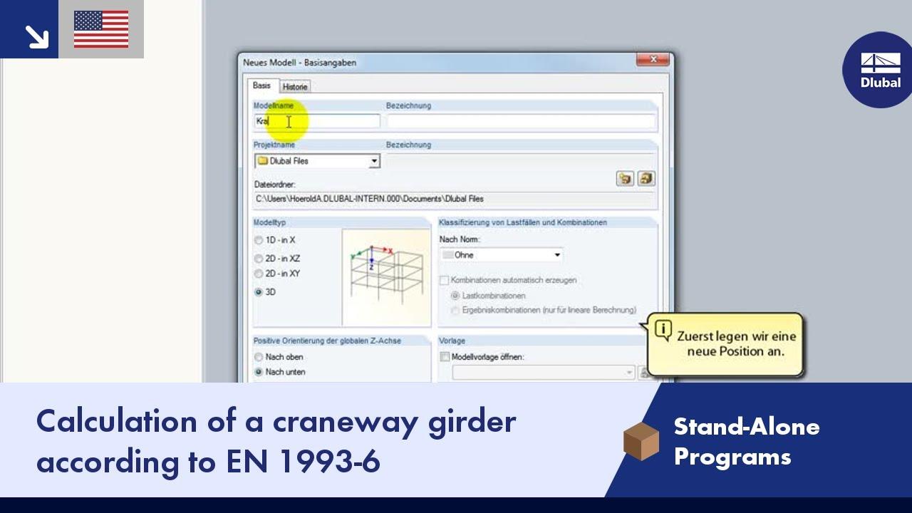 Dlubal CRANEWAY 8 - Crane Girder Calculation According to EN 1993-6