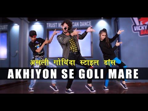 ankhiyon-se-goli-mare-|-govinda-style-dance-bollywood-|-vicky-patel-choreography
