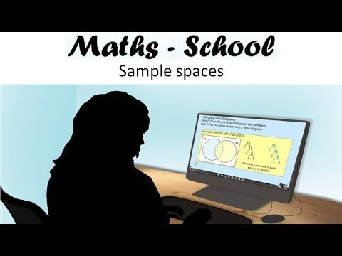 SAMPLE SPACES topic for GCSE Maths Revision - How to use use and complete sample spaces