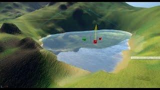 Cryengine #10 создание реалистичного озера полная настройка Creating realistic lake уроки