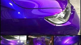 สีม่วงมุกน้ำเงินสเปเชียลTK-V906s indigo violet By TKcarcolour #รถซิ่งสีต้องสวย
