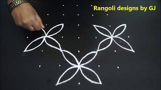 Rangoli for kids | kolam for kids | muggulu for kids | small kolams | easy rangoli