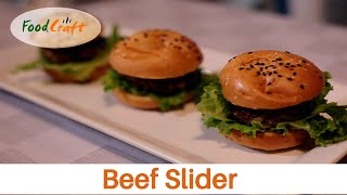 Beef Slider Recipe By Food Craft | Mini Beef Burger