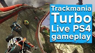 Trackmania Turbo - Live PS4 gameplay