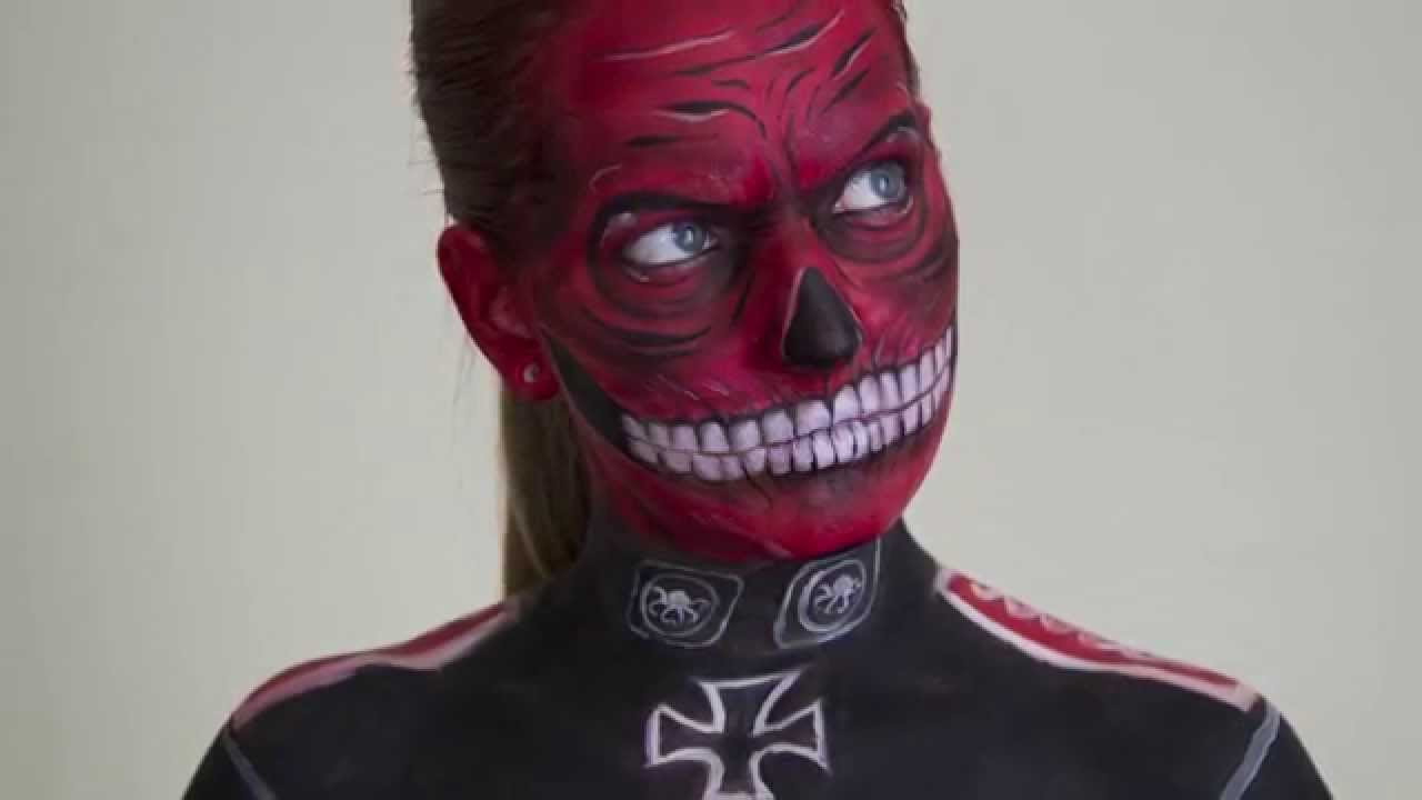 Red face paint ideas