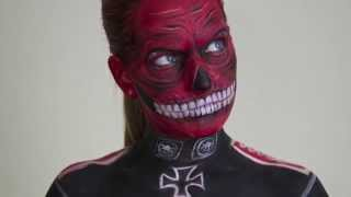 The Red Skull Face Paint