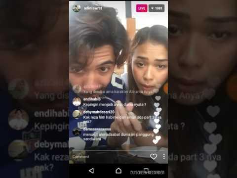 Reza Rahadian & Adinia Wirasti Instagram Live Bahas Critical Eleven
