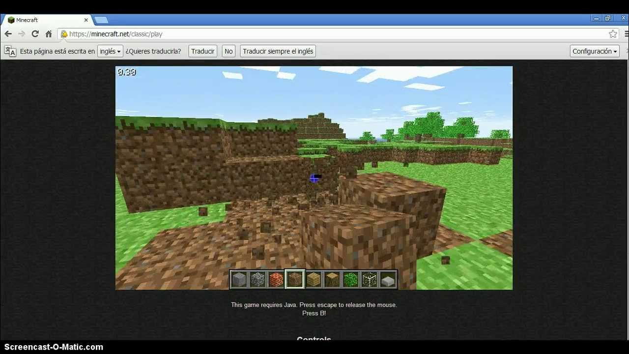 Como Jugar A Minecraft Sin Descargar Nada Mini Gameplay Youtube