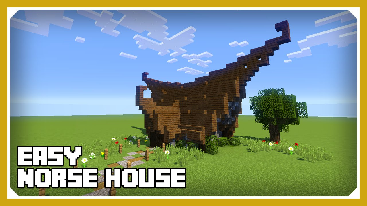 minecraft how to build a small norse viking house