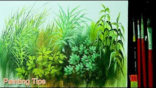 Acrylic Painting Lesson How To Paint Grasses And Other Plants By JMLisondra