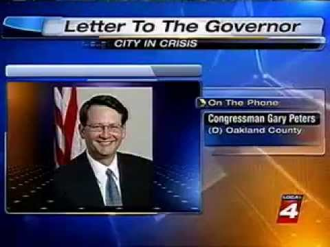 Rep. Gary Peters on WDIV discussing the importance of Detroit not having an Emergency Manager