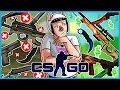INSANE $1000+ 50/50 Upgrades! - CS:GO Funny Case Opening! (Karambit Crimson Web Upgrade!)