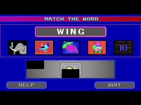 Animated Words (Flix Productions 1992) - DOS Gameplay