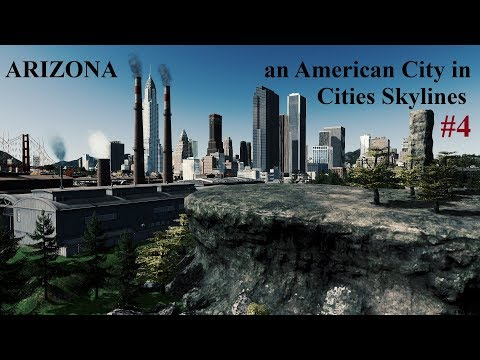 ARIZONA - an American City - Cities Skylines Clip 4 offices and warehouses