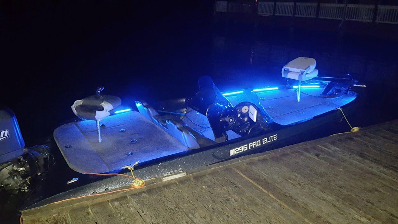 Bass boat LED lights - YouTube