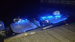 Bass boat LED lights